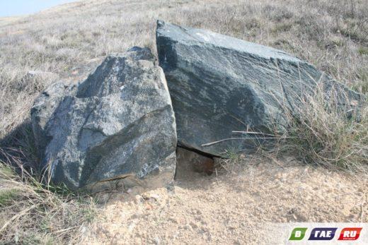 Просто один из сурков оказался оригиналом и стратегию выживания выбрал именно такую: нора под защитой каменных глыб.