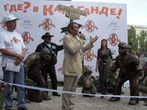 В Караганде поставили памятник сурку 3