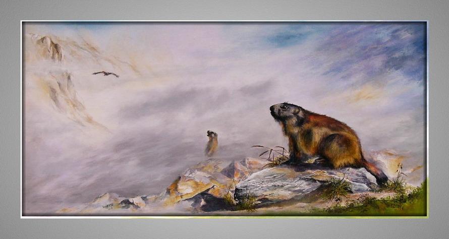 Willi Herr: Два сурка с орлом